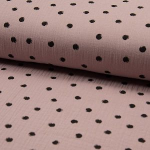 ΜΟΥΣΕΛΙΝΑ, BIG DOTS, DUSTY PINK